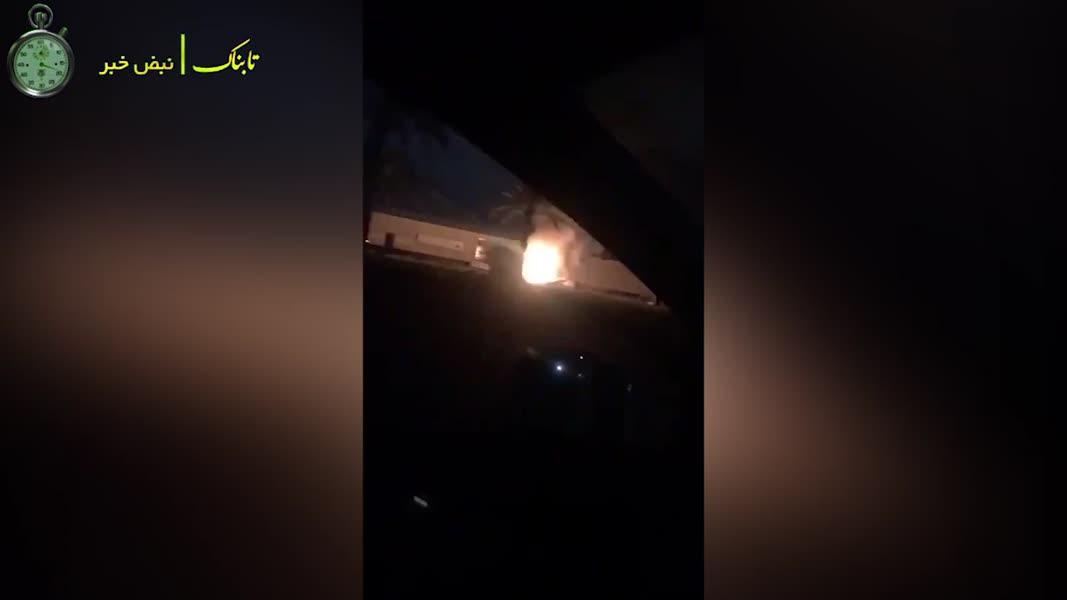 لحظات بعد از ترور سردار شهید سلیمانی