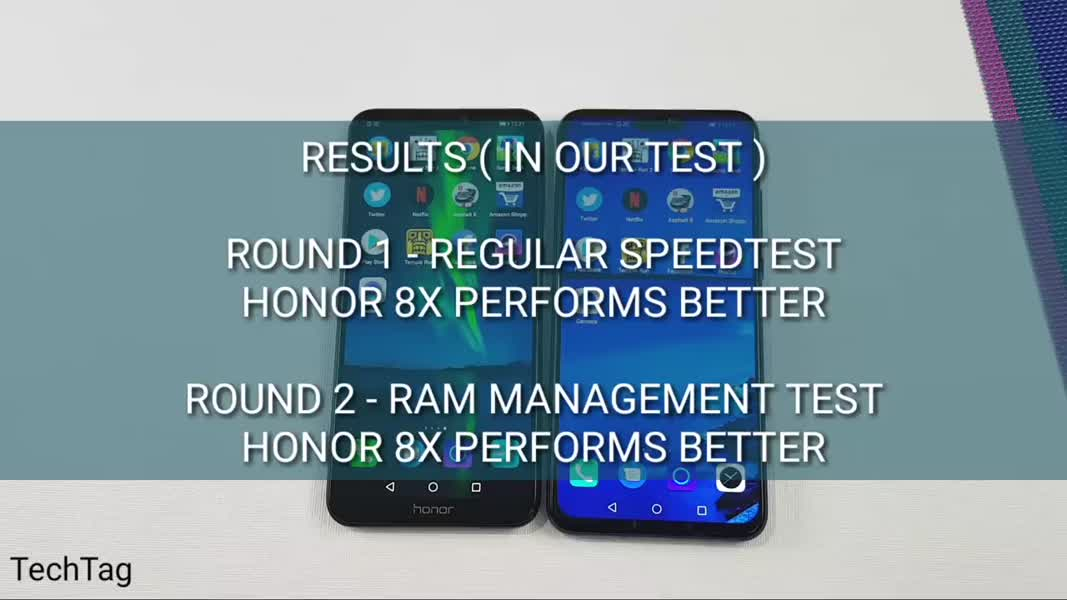 Honor 8C vs Honor 8X Speed Test _ Ram Management Test _ TechTag ( 720 X 720 )